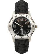 Black Paracord Watch Survival Tactical Cobra Weave Bracelet - $30.99