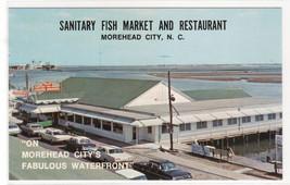 Sanitary Fish Market Restaurant Cars Morehead North Carolina postcard - $5.94