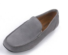 New Alfani Gray Woven Suede Driver Mocc ASIN S Kendric Loafers Shoes 10 - $19.79