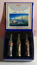 Coke Atlanta 1996 Olympics Games Gold/Silver/Bronze Mini Miniature Coca-cola bot image 1