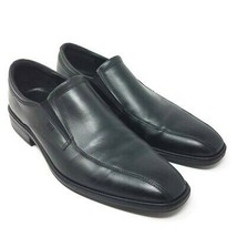 ECCO Mens Loafers Shoes Black Leather Slip-On Stretch Flat Heels 9-9.5 43 M - $32.87