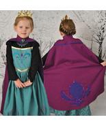 FROZEN Princess Anna Elsa Queen Girls Cosplay Costume Party Formal Dress Elsa #2 - $13.98