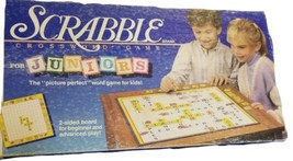Vintage Scrabble Crossword Game For Juniors 1989 Vintage Complete  - $13.54