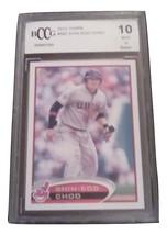 2012 Topps Shin-Soo Choo BCCG Graded 10 Mint baseball card number 582 In... - $6.99