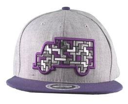 Trukfit Mens Grey Heather Puzzle Truck Baseball Strapback Hat Cap T1208H10 NWT
