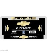 CHEVROLET DOMED METAL LICENSE PLATE FRAME MADE IN USA - $36.09