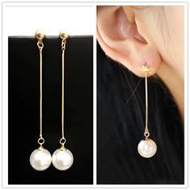 Long Tassel Simulated Pearl Drop Earrings Women Gift Bijoux Korean jewel... - $15.43