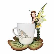 Pacific Giftware Dream Eden Green Tea Leaf Fairy Figurine with Drinking Mug - $47.99