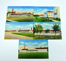 Set of 5 Vintage WWII Camp McCoy Wisconsin Unused G.I. Postcards - $39.99
