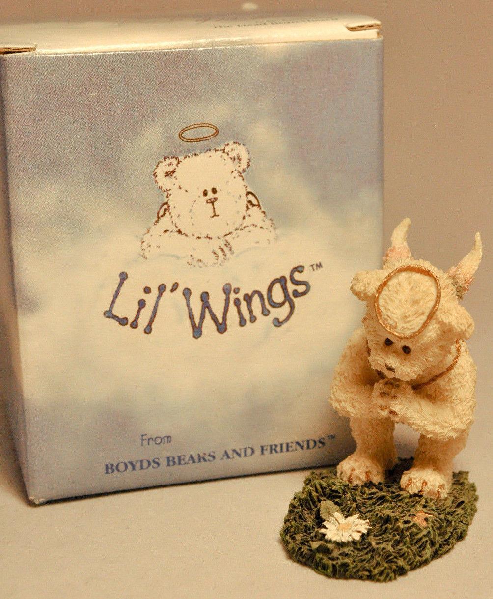 Boyds Bears & Friends: Petals - Style 24152 - Li'l Wings - Angel Bears image 2
