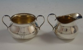 Newcastle by Gorham Sterling Silver Sugar and Creamer Set 2pc Beaded (#2475) - $309.00