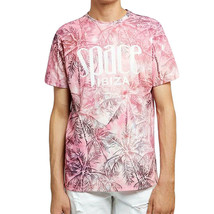OFFICIAL Space Ibiza Allover Palms Mens T-Shirt Pink Sublimated - $33.11
