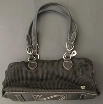 The Sak Black Crochet Purse Handbag Shoulder Bag Adjustable Buckle Straps - $11.87