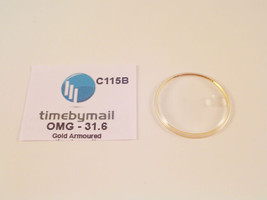 For OMEGA SEAMASTER 31.6mm Date Gold Armoured Watch Glass Crystal Part C... - $23.97