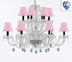 Murano Venetian Style All Empress Crystal (Tm) Chandelier! with Blue Crystals an - $307.71