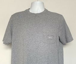 Mens Tommy Bahama Relax Pocket T Shirt Small Gray Embroidered Marlin Log... - $23.71
