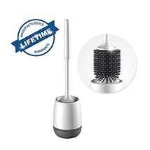 CZF Silicone Toilet Brush and Holder, Bathroom Plastic Toilet Bowl Brush... - $26.44
