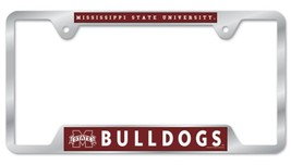 Mississippi State Bulldogs Heavy Duty Chrome Metal License Plate Frame - $13.95