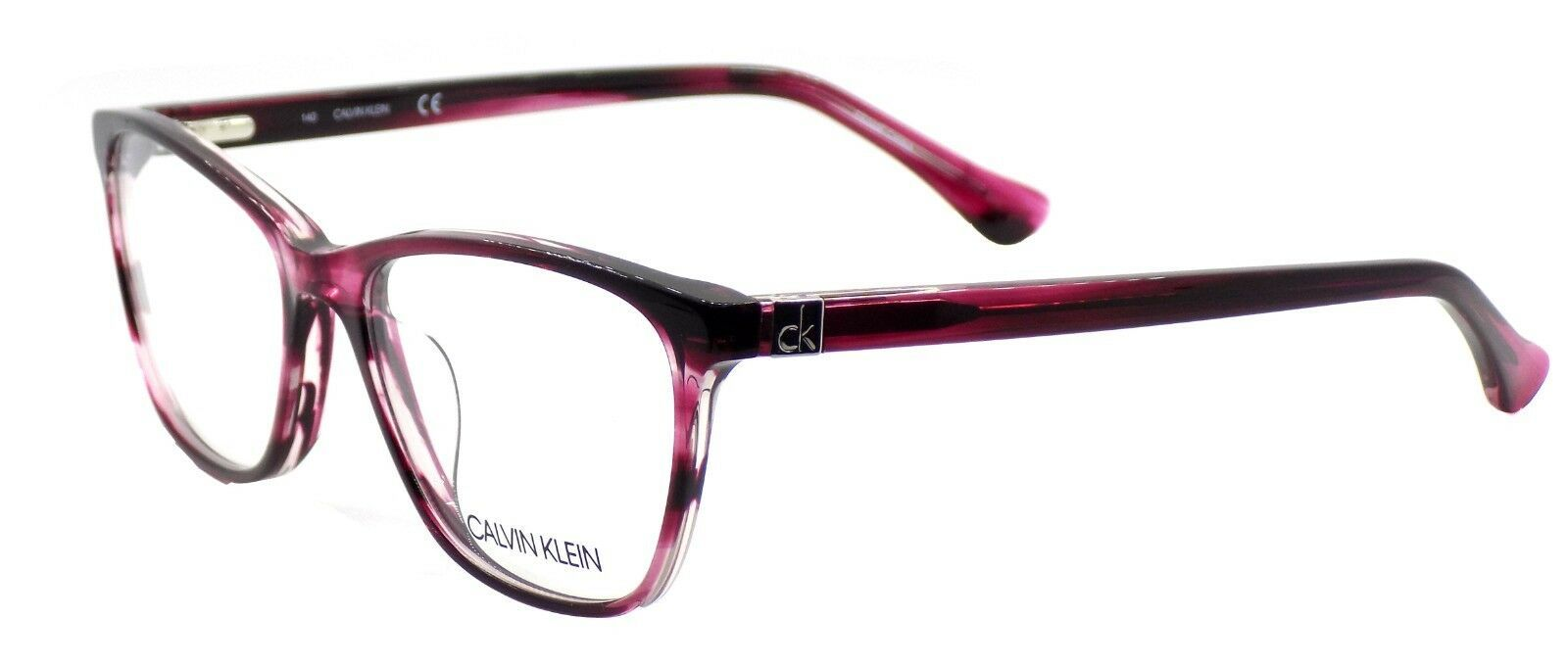 Calvin Klein CK5883 609 Women's Eyeglasses Frames Striped Wine 52-18-140 + CASE