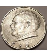 Unc Silver Austria 1928 2 Schilling~Death Of Franz Schubert - $19.82