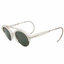 Tom Ford Farrah-2.0 TF0631 25N 49MM Elfenbein Gold/Grün Runde Sonnenbrille - $127.69