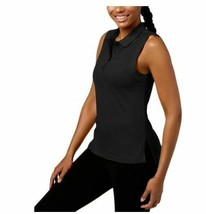 Calvin Klein Performance  NWT $39 Black Top Polo High-Low Hem Sleeveless... - $21.77