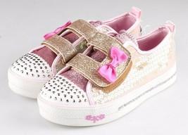 Bébé Fille ' S Sport Par Skechers Cristal Or Stars Madelyne Clair Dessus Baskets