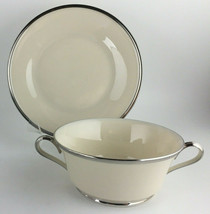 Lenox Solitaire Cream soup bowl & saucer / dessert plate - $65.00