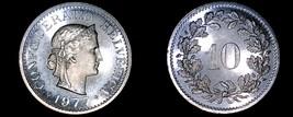 1977 Swiss 10 Rappen Proof World Coin - Switzerland - $19.99