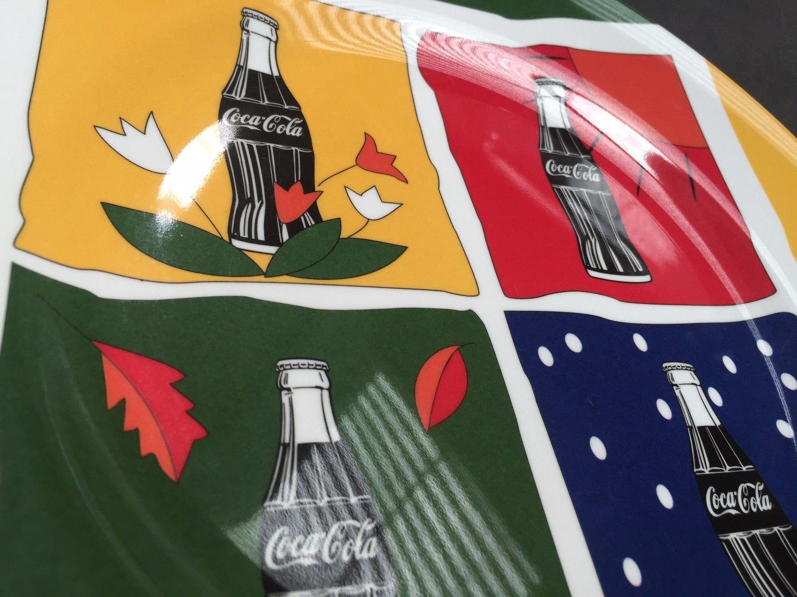 4 pieces COKE Coca Cola Dinnerware Gibson Dinner Plates 1998