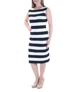 Michael Kors Womens Size M Stripe Scoop Back Black/White Dress 2068-3 - $49.00