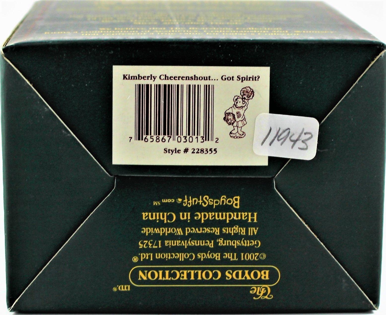 Boyds Bears Kimberly Cheerenshout Got Spirit!  #228355 Mint In Box