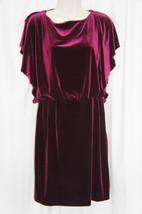 Jessica Simpson Dress Sz 10 Rhododenron Burgundy Velvet Cocktail Party D... - £43.91 GBP