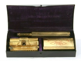 Vintage  Boxed Valet Auto Strop Safety Razor Shaving With Blades New Yor... - $29.70