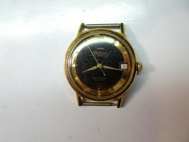 Waltham Fhf 65 17 Jewel Black Gold Dial Automatic Watch For Repair No Rotor - $116.10