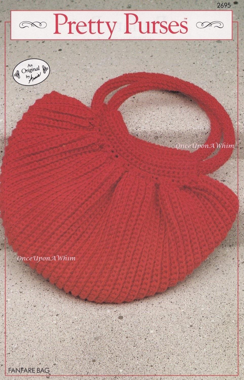 Fanfare Bag, Annie's Attic Crochet Pretty Purses Pattern Booklet 2695 RARE