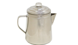 Percolator Stainless Steel Stovetop Coffepot Camping Outside Brewing 12 Cup - $47.30