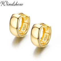 925 Sterling Sliver Loop Circles Wide Small Huggies Hoop Earrings For Women Girl - $15.10