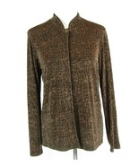 Chico's Travelers Size 1 (M) Brown Black Knit Jacket Packable - $24.99