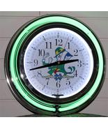 New 14 Inch Notre Dame Football Neon Wall Clock Garage Pub Bar Signs Hom... - $103.90