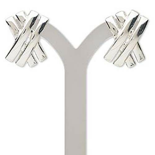 Classic Satin Smooth Silver Post Earrings - $5.70
