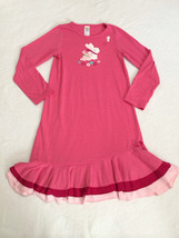 Gymboree M 7 8 Pink Bunny Rabbit Flower Butterfly Tiered Ruffle Nightgown Pajama - $9.99
