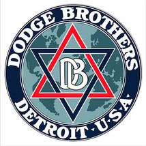 Dodge Bros Detroit Garage Shop Reproduction Metal Sign 14x14 - $25.74