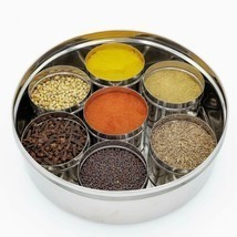 Stainless Steel See through Spice Box with See through Containers Set of... - £58.01 GBP
