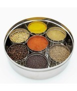 Stainless Steel See through Spice Box with See through Containers Set of... - £57.51 GBP