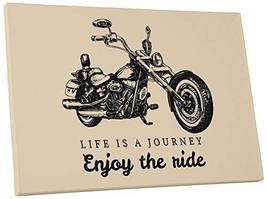 "Pingo World 0725QQQB8CG ""Life is a Journey Enjoy The Ride Motorcycle"" Gallery Wr - $138.55"