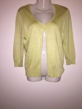 Ann Taylor Womens M Spring Green Pastel Light Weight Stretch Cardigan Sw... - $20.00