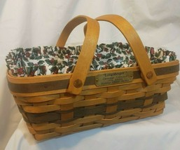 1996 Longaberger Company Christmas Basket Collection Holiday Cheer - $79.18
