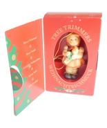 M J Hummel Goebel Germany Christmas Ornament Girl with Doll 1208 Vintage 1997 - $19.95