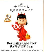 """Peanuts Gang """"Devil-May-Care Lucy"""" Hallmark Halloween Ornament - $43.55"""